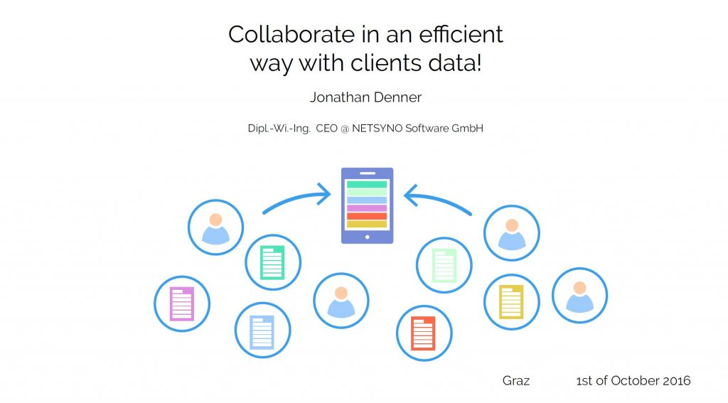 collaborate in an efficient way with clients data